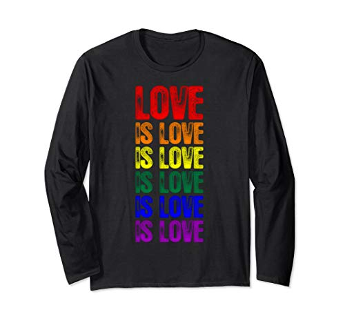 LGBT Gay Pride Flag Love is Love is Love Long Sleeve T-Shirt