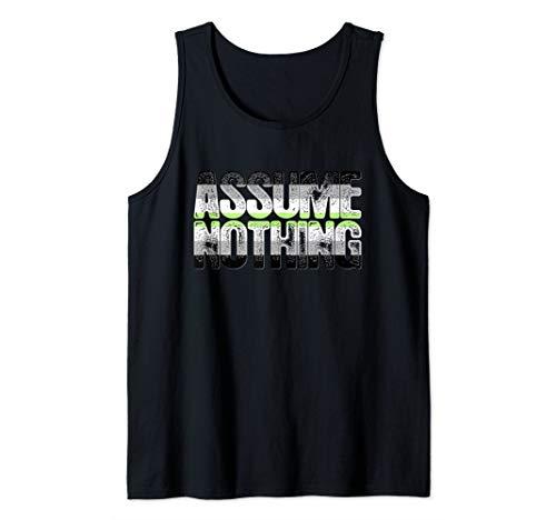 Assume Nothing Agender Pride Tank Top