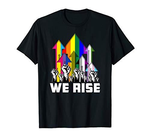 We Rise LGBTQIA Pride Flags T-Shirt