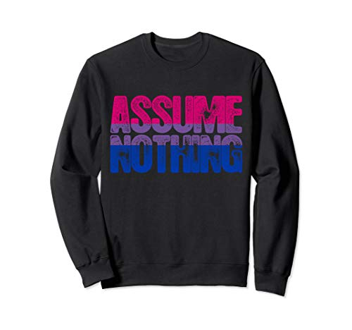 Assume Nothing - Bisexual Pride Sweatshirt