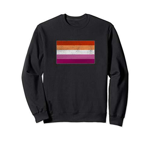Distressed Lesbian Pride Flag Sweatshirt