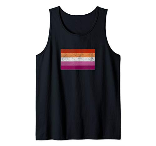 Distressed Lesbian Pride Flag Tank Top