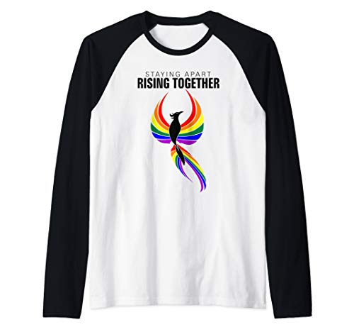 Staying Apart Rising Together LGBTQ Phoenix Raglan Baseball Tee