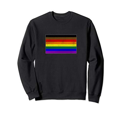 Distressed Philly LGBTQ Gay Pride Flag Sweatshirt