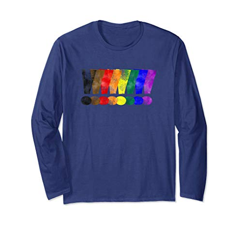 Distressed Philly LGBTQ Pride Exclamation Points Long Sleeve T-Shirt