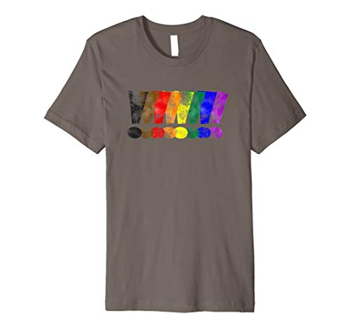 Distressed Philly LGBTQ Pride Exclamation Points Premium T-Shirt