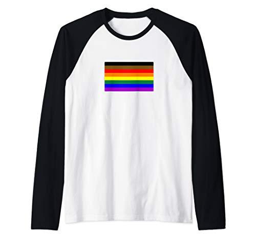 Philly LGBTQ Gay Pride Flag Raglan Baseball Tee