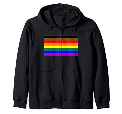 Philly LGBTQ Gay Pride Flag Zip Hoodie