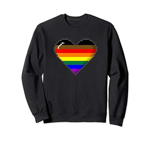 Philly LGBTQ Pride 8-Bit Pixel Heart Sweatshirt