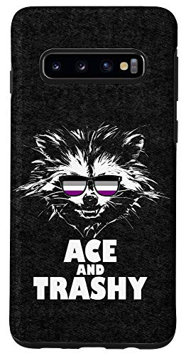Galaxy S10 Ace and Trashy Raccoon Sunglasses Asexual Pride Case