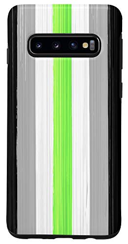 Galaxy S10 Agender Pride Flag Paint Strokes Case
