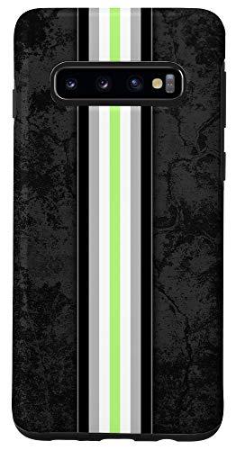 Galaxy S10 Agender Pride Flag Stripe Case