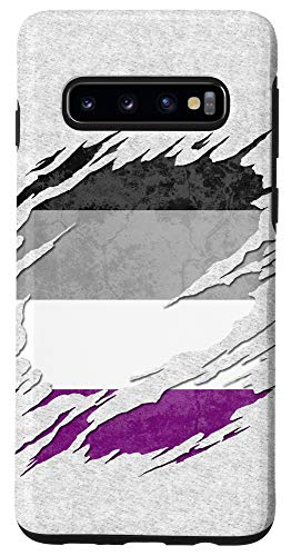 Galaxy S10 Asexual Ace Pride Flag Ripped Reveal Case