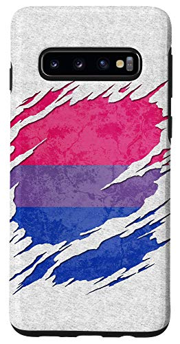 Galaxy S10 Bisexual Pride Flag Ripped Reveal Case