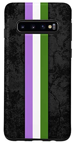Galaxy S10 Genderqueer Pride Flag Stripe Case