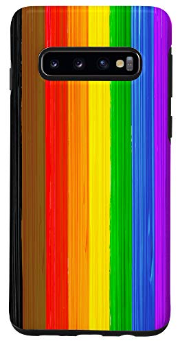 Galaxy S10 Inclusive Philly LGBTQ Pride Flag Paint Strokes Case