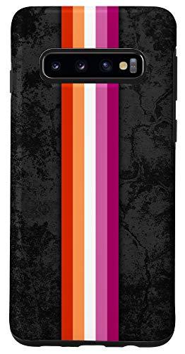 Galaxy S10 Lesbian Pride Flag Stripe Case