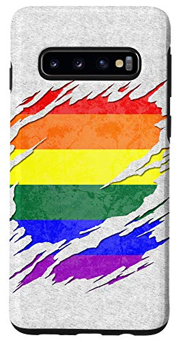 Galaxy S10 LGBT Gay Rainbow Pride Flag Ripped Reveal Case