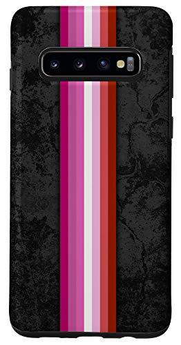 Galaxy S10 Lipstick Lesbian Pride Flag Stripe Case