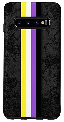 Galaxy S10 Nonbinary Pride Flag Stripe Case