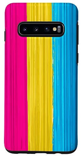 Galaxy S10 Pansexual Pride Flag Paint Strokes Case