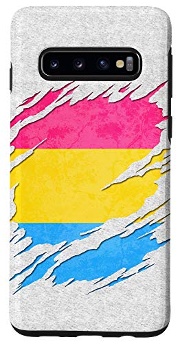 Galaxy S10 Pansexual Pride Flag Ripped Reveal Case