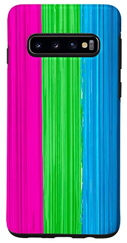 Galaxy S10 Polysexual Pride Flag Paint Strokes Case