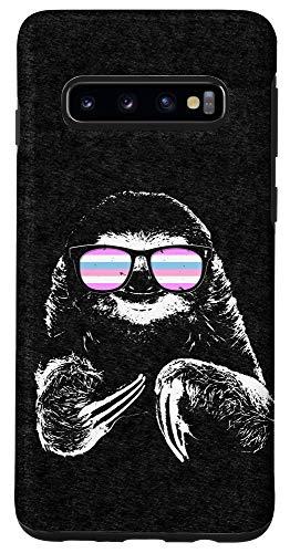 Galaxy S10 Pride Sloth Bigender Flag Sunglasses Case