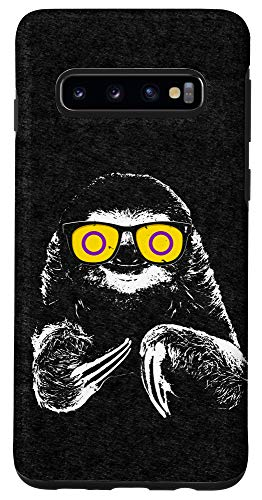 Galaxy S10 Pride Sloth Intersex Flag Sunglasses Case