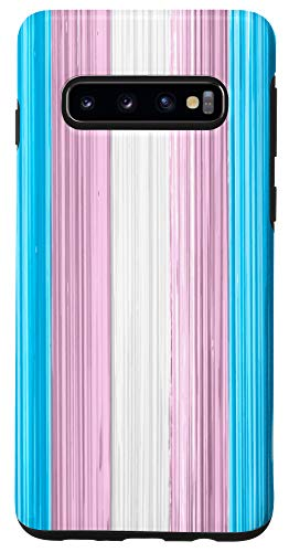 Galaxy S10 Transgender Pride Flag Paint Strokes Case