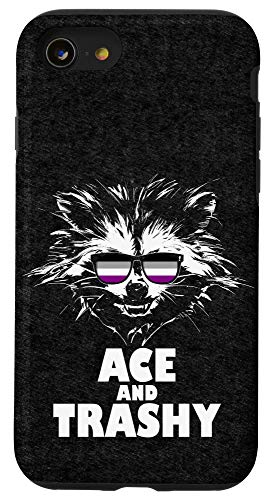 iPhone SE (2020) / 7 / 8 Ace and Trashy Raccoon Sunglasses Asexual Pride Case