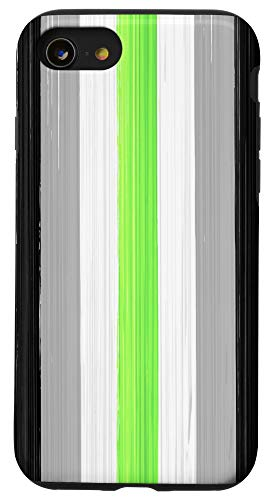 iPhone SE (2020) / 7 / 8 Agender Pride Flag Paint Strokes Case