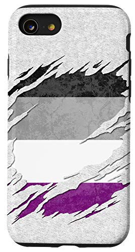 iPhone SE (2020) / 7 / 8 Asexual Ace Pride Flag Ripped Reveal Case
