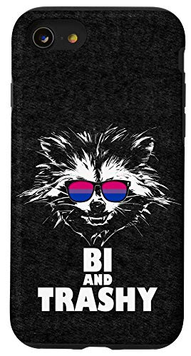 iPhone SE (2020) / 7 / 8 Bi and Trashy Raccoon Sunglasses Bisexual Pride Case