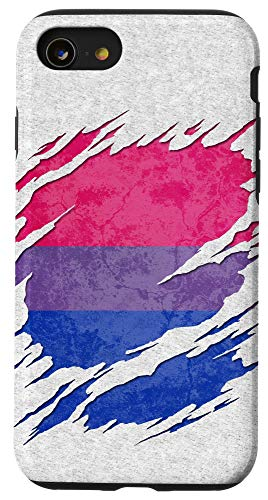 iPhone SE (2020) / 7 / 8 Bisexual Pride Flag Ripped Reveal Case