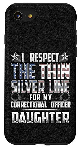 iPhone SE (2020) / 7 / 8 Daughter Thin Silver Line Correctional Officer Case