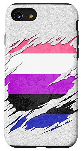 iPhone SE (2020) / 7 / 8 Genderfluid Pride Ripped Reveal Case