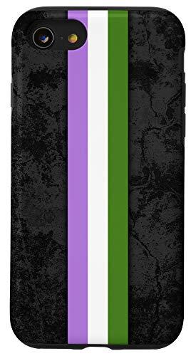 iPhone SE (2020) / 7 / 8 Genderqueer Pride Flag Stripe Case
