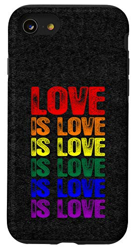 iPhone SE (2020) / 7 / 8 LGBTQ Gay Pride Flag Love is Love is Love Case