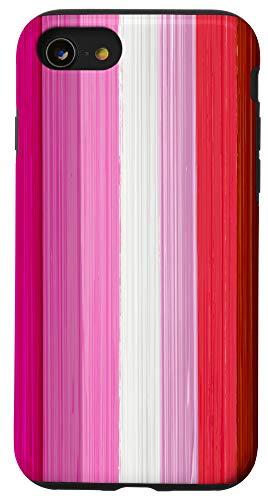 iPhone SE (2020) / 7 / 8 Lipstick Lesbian Pride Flag Paint Strokes Case