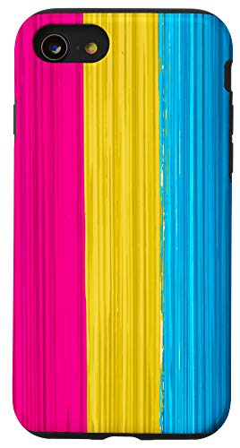 iPhone SE (2020) / 7 / 8 Pansexual Pride Flag Paint Strokes Case