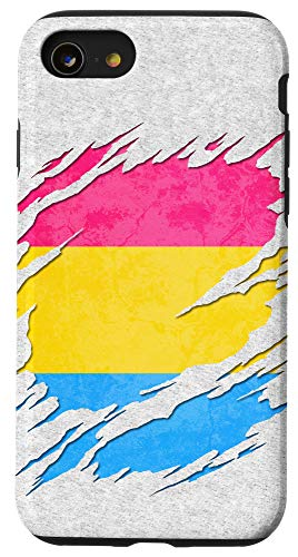 iPhone SE (2020) / 7 / 8 Pansexual Pride Flag Ripped Reveal Case