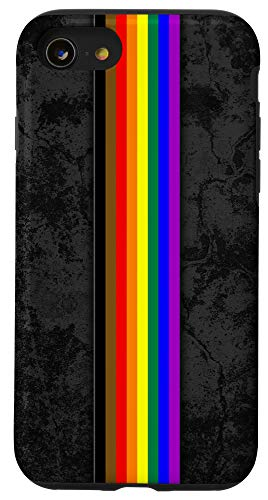 iPhone SE (2020) / 7 / 8 Philly Inclusive LGBTQ Pride Flag Stripe Case