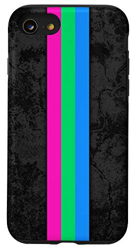 iPhone SE (2020) / 7 / 8 Polysexual Pride Flag Stripe Case