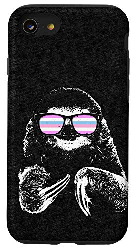 iPhone SE (2020) / 7 / 8 Pride Sloth Bigender Flag Sunglasses Case