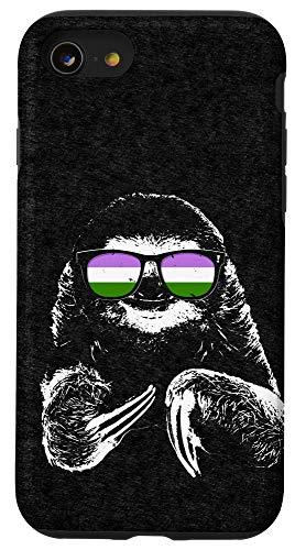 iPhone SE (2020) / 7 / 8 Pride Sloth Genderqueer Flag Sunglasses Case