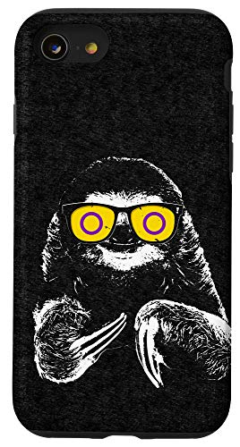 iPhone SE (2020) / 7 / 8 Pride Sloth Intersex Flag Sunglasses Case