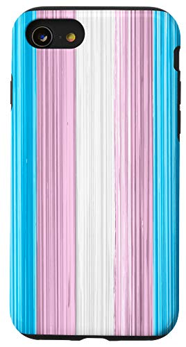 iPhone SE (2020) / 7 / 8 Transgender Pride Flag Paint Strokes Case