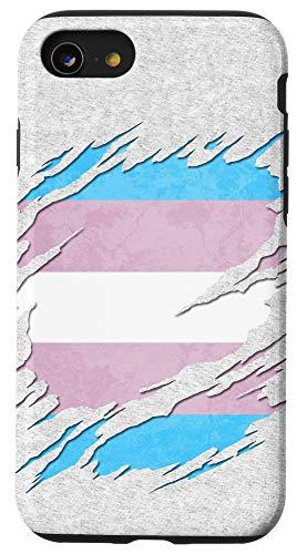 iPhone SE (2020) / 7 / 8 Transgender Pride Flag Ripped Reveal Case