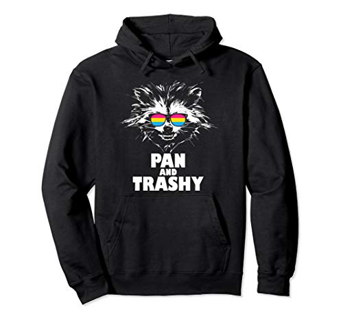 Pan and Trashy Raccoon Sunglasses Pansexual Pride Pullover Hoodie